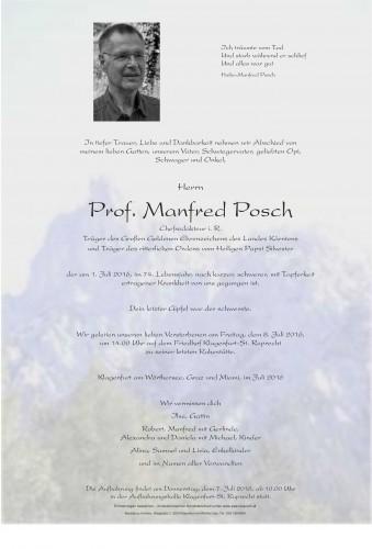 Prof. Manfred Posch