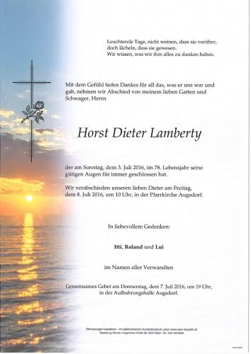 Horst Dieter Lamberty