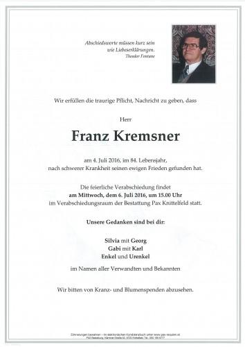 Franz Kremsner
