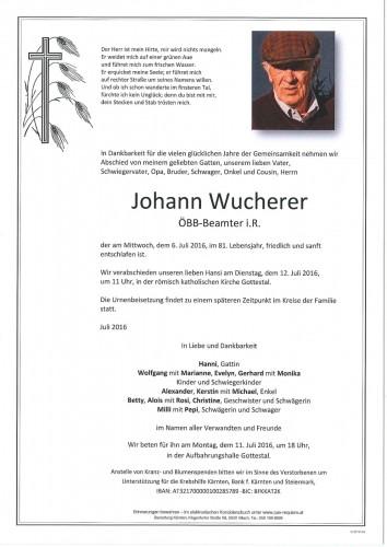 Johann Wucherer