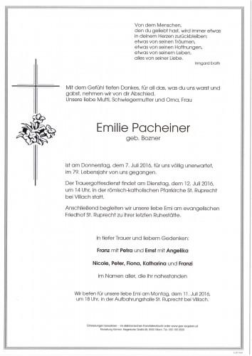 Emilie Pacheiner geb. Bozener