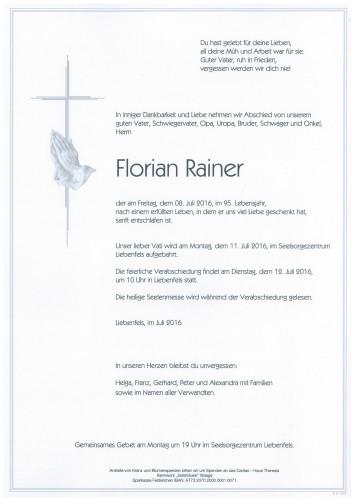 Florian Rainer