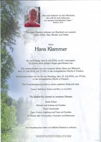Hans Klammer