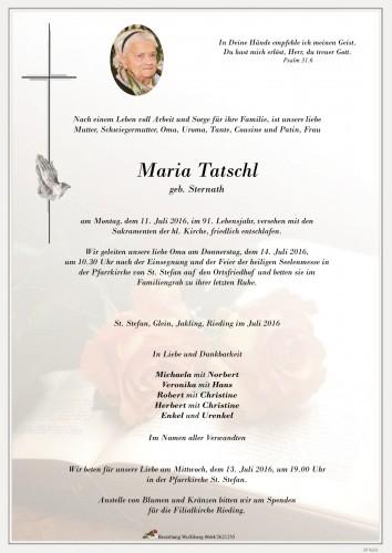 Maria Tatschl