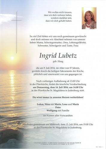 Ingrid Lubetz
