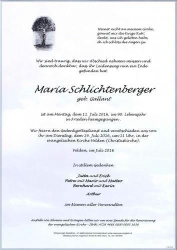 Maria Schlichtenberger