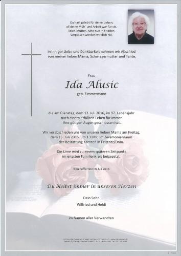 Alusic Ida geb.Zimmermann