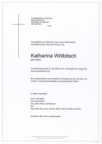 Katharina Wölbitsch geb. Mautz