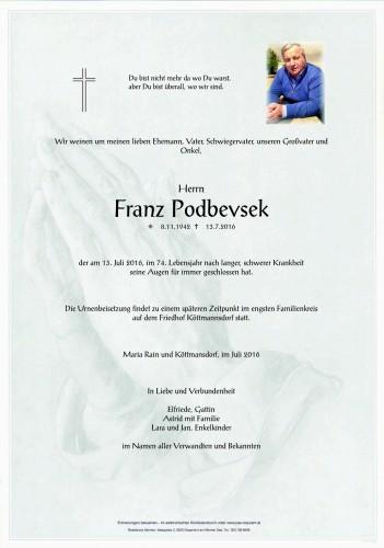 Franz Podbevsek