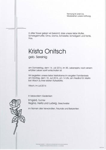 Krista Onitsch