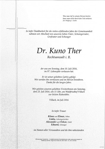 Dr. Kuno Ther