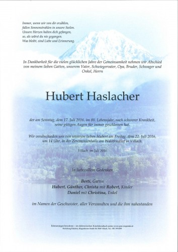 Hubert Haslacher