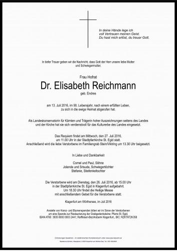 Hofrat Dr. Elisabeth Reichmann