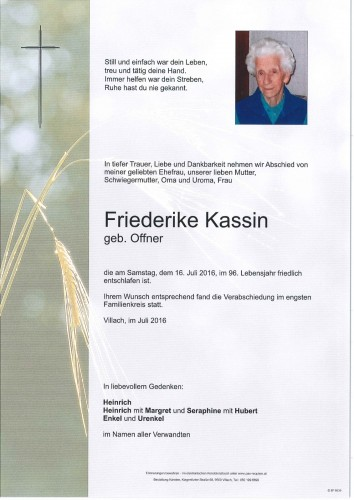 Friederike Kassin