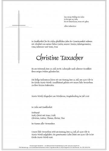 Christine Taxacher