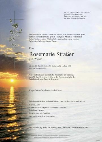 Rosemarie Straßer