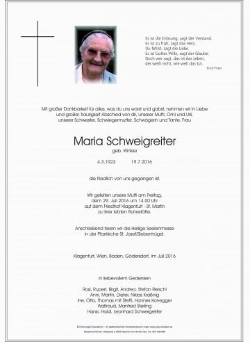 Maria Schweigreiter