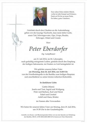 Peter Eberdorfer, vlg. Lamplbauer
