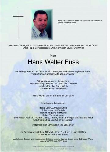 Hans Walter Fuss