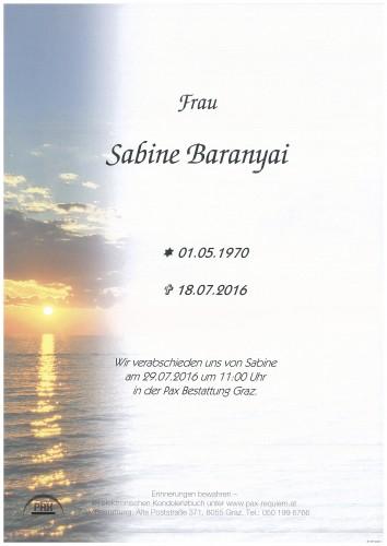 Sabine Baranyai