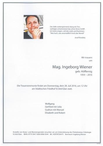 Mag. Ingeborg Wiener