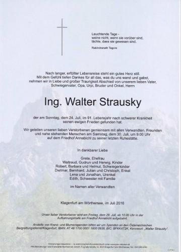 Ing. Walter Strausky