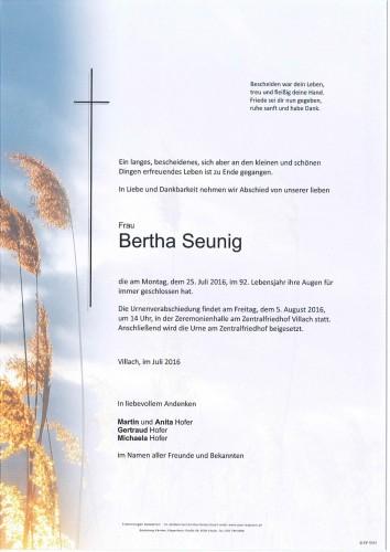Bertha Seunig