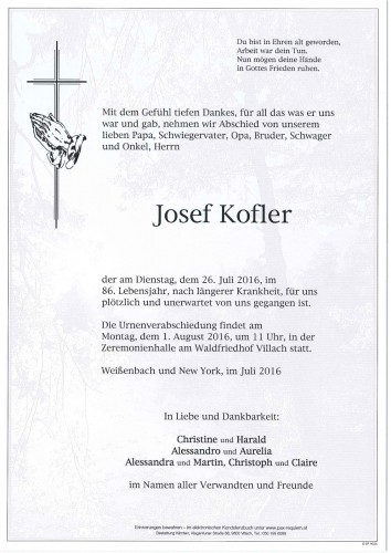 Josef Kofler