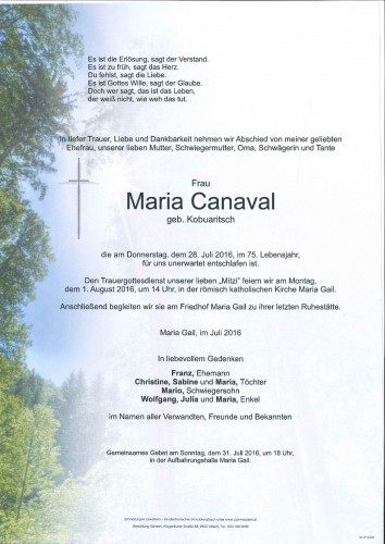 Maria Canaval
