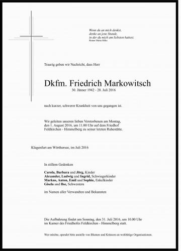 Dkfm. Friedrich Markowitsch