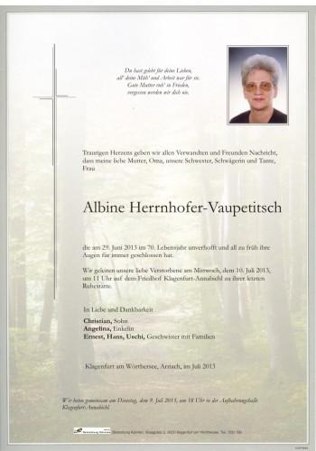 Albine Herrnhofer-Vaupetitsch