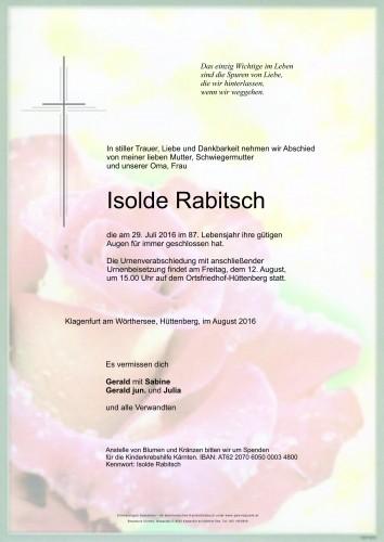 Isolde Rabitsch