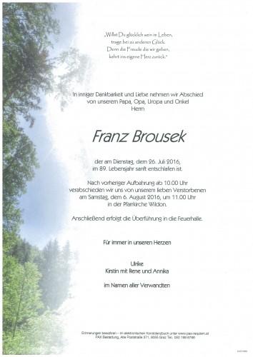 Franz Brousek