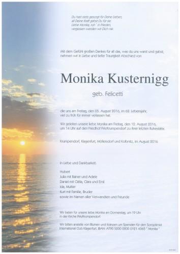 Monika Kusternigg  geb. Felicetti