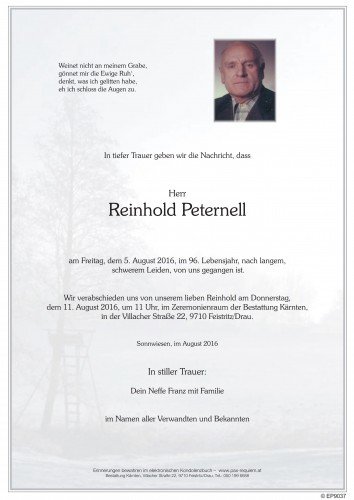 Reinhold Peternell