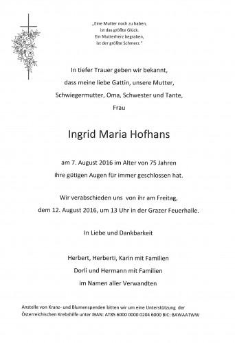 Ingrid Maria Hofhans