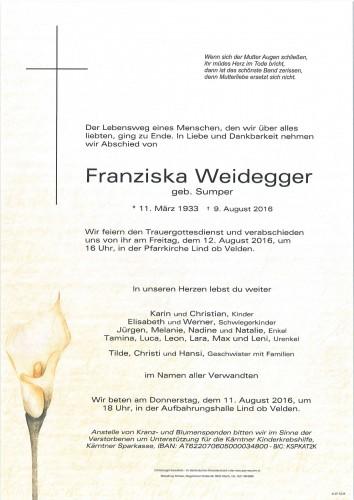 Franziska Weidegger