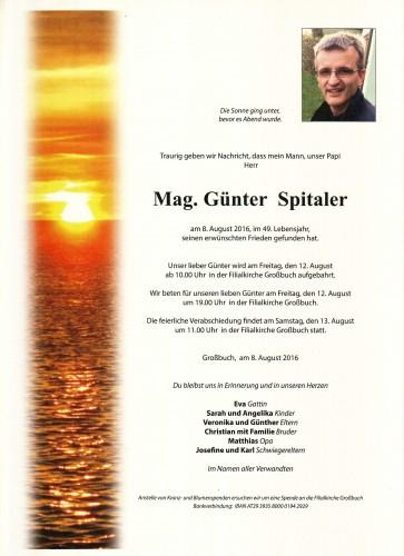Mag. Günter Spitaler
