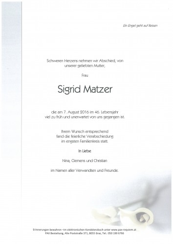 Sigrid Matzer