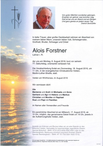 Alois Forstner