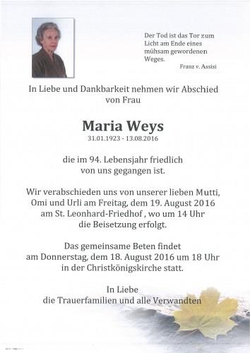 Maria Weys