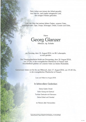 Georg Glanzer
