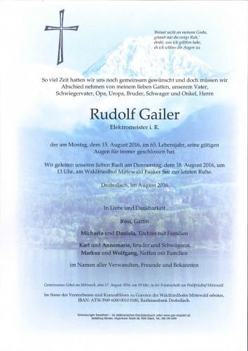 Rudolf Gailer