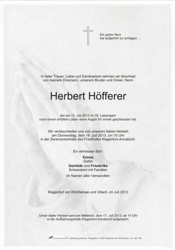 Herbert Höfferer