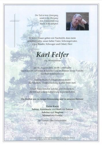 Karl Felfer, vlg. Winkelmoar