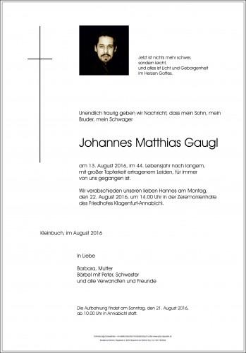 Johannes Matthias Gaugl