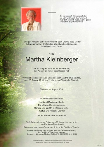 Martha Kleinberger