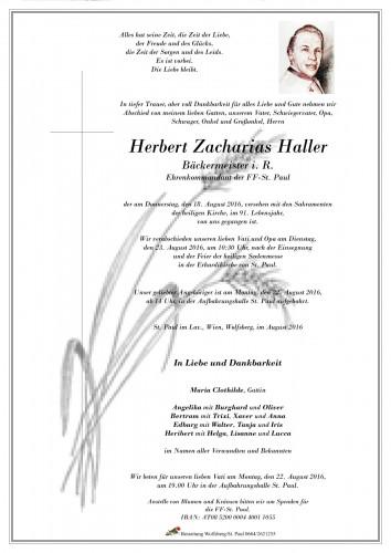 Herbert Zacharias Haller