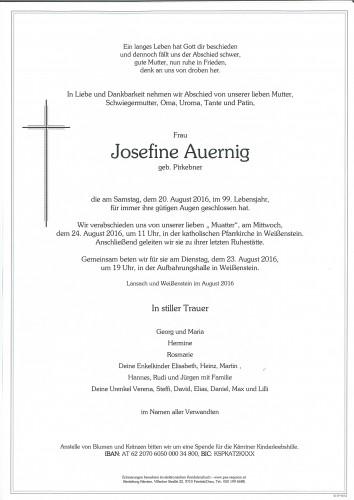 Josefine Auernig geb. Pirkebner