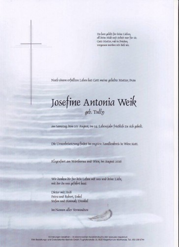 Josefine Antonia Weik